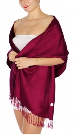 wholesale D36 Solid HD Wedding Pashmina 25 Lite Violet