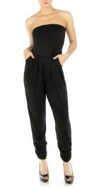 wholesale M15 Strapless solid jumpsuit BK