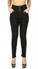 Wholesale C09D Fleece jeggings with zip Black