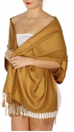 wholesale D45 Silky Solid Wedding Pashmina 12 Bronze