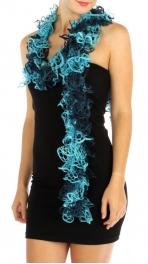 wholesale I07 Multi color curly ruffle scarf BU