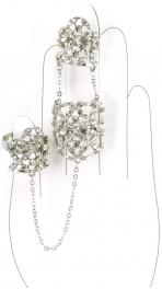 Wholesale L30 Faux crystalized three rings R fashionunic