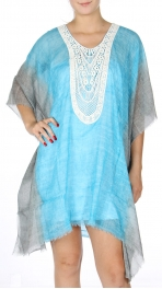 Wholesale G47C Tie Dye Cotton Cover Up Dress TQ