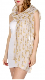 Wholesale I18C Anchor print crinkle scarf BE
