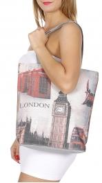 Wholesale P01B London print tote bag