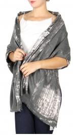Wholesale O10B Cotton blend frayed trim oblong scarf Blur