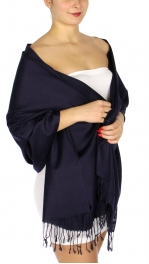 wholesale D01 Silky Light Wedding Pashmina 05 Navy