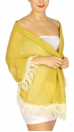 Wholesale K10 Tassel fringe solid shawl scarf Grey