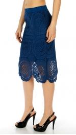 Wholesale P21 Lace pencil skirt Black