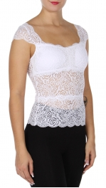 Wholesale K43C NEW MIX Lace tank top with padding Black