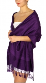 wholesale D37 Whole Jacquard Pashmina 92 Purple