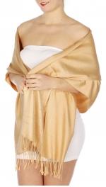 wholesale D36 Solid HD Wedding Pashmina 12 Camel