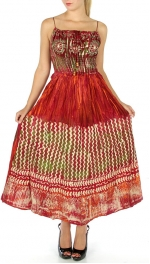 Wholesale M26 Long embroidered scrunch top dress BD