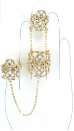 Wholesale L30 Faux crystalized three rings G fashionunic