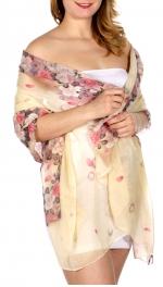 Wholesale-H34D Blossom & petal print scarf BE