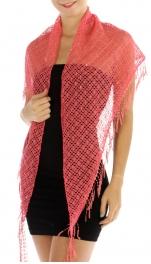 wholesale I10 Sequin hand knitted shawl Dark PK