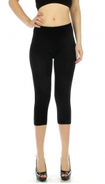 wholesale C32 Capri length cotton legging Black S