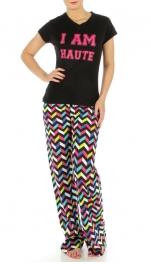 wholesale G27 Cotton I Am Haute pajama set Black