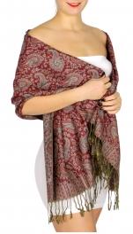 {[en]:Wholesale D64 Flower and paisley pashmina