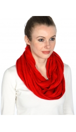 wholesale O64 Soft acrylic solid circular scarf Red