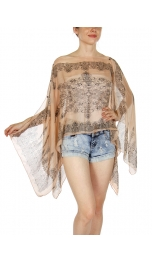Wholesale I31E Multi Wear Chancel Poncho BK