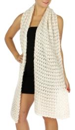 Wholesale P02D Long Warm Knitted Muffler Bk