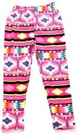 Wholesale A28 Horizontal tribal print kids softbrush leggings