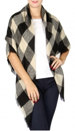 Wholesale P34A Gingham square scarf