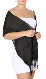 wholesale I02 Solid Pashmina Petite size BK fashionunic
