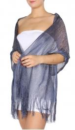 8e8f526361718 O54A Metallic fringe scarf. CODE: VS0550-1