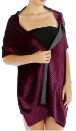 wholesale C19 Hound Tooth stretch velvet shawl FU/BK