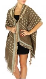 Wholesale P04A Polka Dot Blanket Scarf BLACK