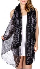 Wholesale I10D Paisley bandana scarf BK