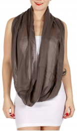 wholesale M08 Semi sheer solid Infinity scarf Teal