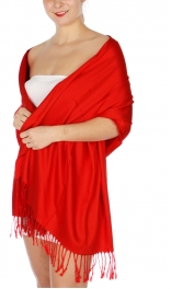 wholesale D36 Solid HD Wedding Pashmina 04 Red