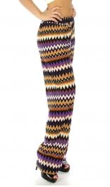 Wholesale M09 Multicolored palazzo pants Purple