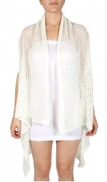 Wholesale O04E Open weave vest Black