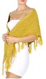 Wholesale P41 Chenille triangle scarf Black