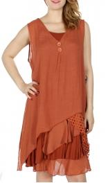 Wholesale I19B 2 PCS Ruffle Layer Dress&Blouse Set TP