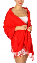 wholesale D33 Whole Jacquard Pashmina 33 Ruby