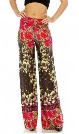 wholesale B28 Wide waistband rose palazzo pants