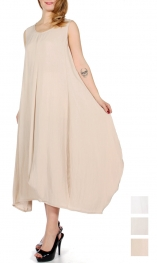 Wholesale G27C Bubble bottom sleeveless maxi dress
