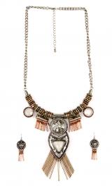 """Wholesale M14D Tribal Look Design 16"""" Fashion Neck Set B3T"""