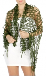 Wholesale H45 Cut out scarf Green