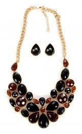 wholesale N30 HLS9405GBK Necklace set GBK fashionunic