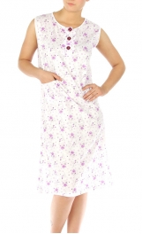 wholesale M37 Cotton blend floral nightgown Purple M