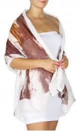 wholesale K23 Cotton blend peacock scarf Brick