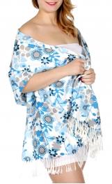 Wholesale D07A Retro floral print pashmina