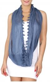 Wholesale I41 Vintage-style lace tassel infinity scarf Dozen
