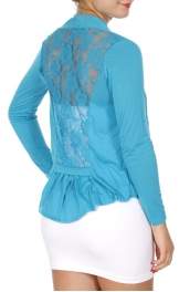 Wholesale N09 Lace cut insert long sleeve Yellow